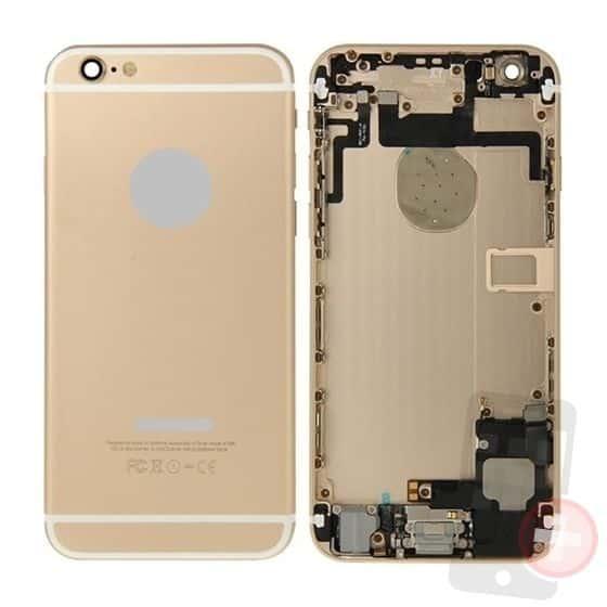 Chasis para iPhone 6 dorado con componentes