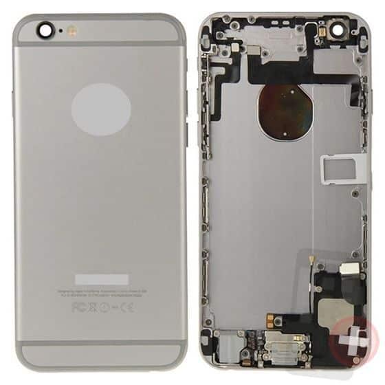 Chasis para iPhone 6 gris espacial con componentes