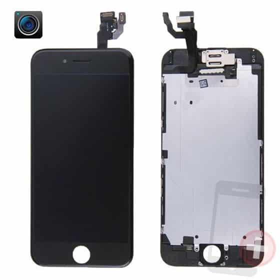 Pantalla completa para iPhone 6 negra con componentes