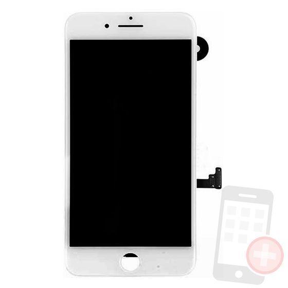 Pantalla completa para iPhone 7 plus con componentes blanca