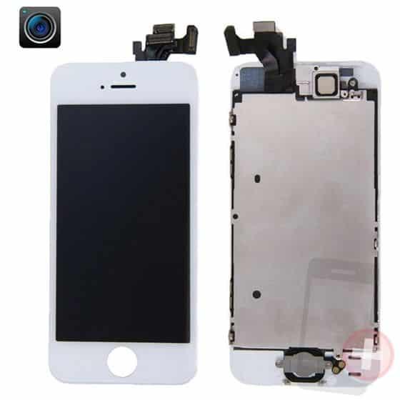 Pantalla completa para iPhone 5 blanca con componentes