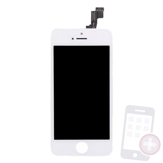 Pantalla completa para iPhone 5S blanco